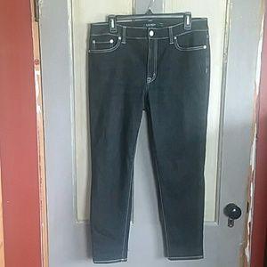 Ralph Lauren Black Skinny Ankle Jeans